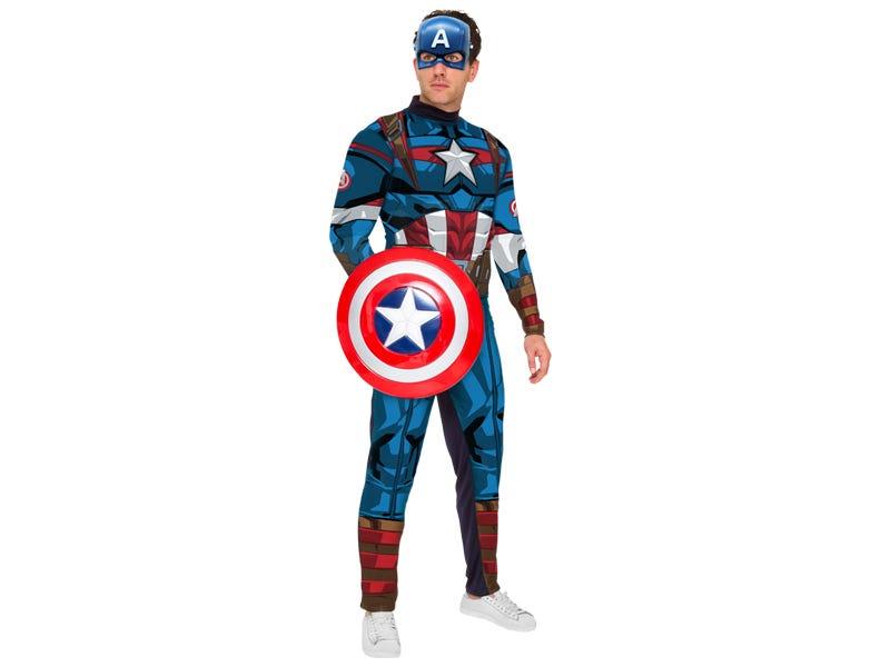 Fantasia Capitão América Adulto Luxo - SEM Escudo