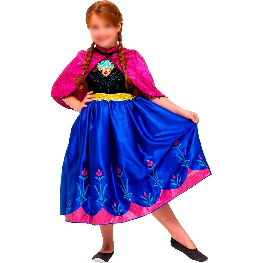 Fantasia Frozen Anna Princesa Infantil Luxo