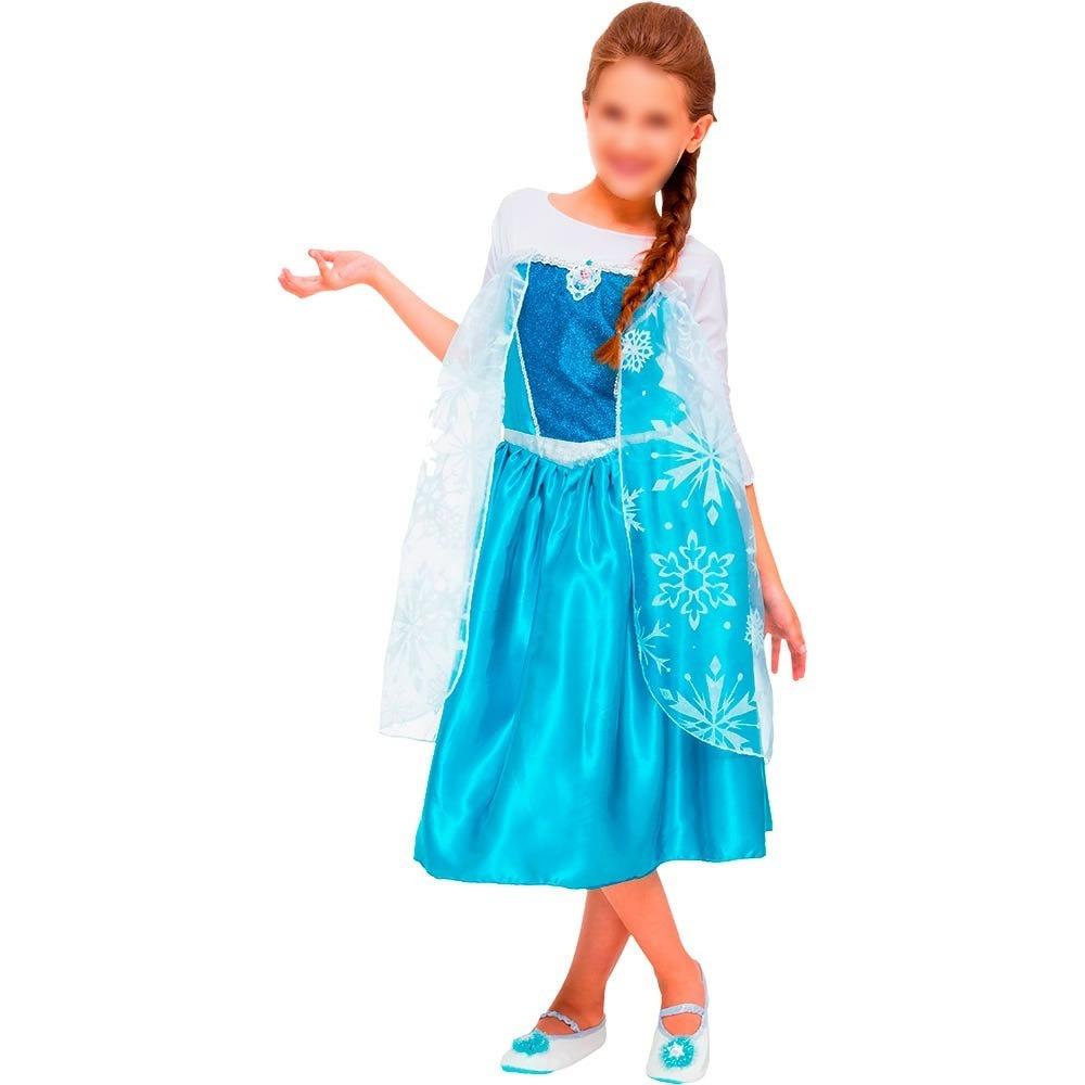 Fantasia Frozen Elsa Princesa Infantil Luxo