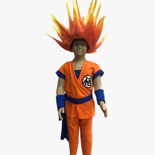 Fantasia Goku Infantil com Peruca Saiyajin