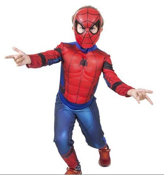 Fantasia Homem Aranha Infantil - Longo Luxo Músculos