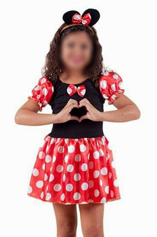 Fantasia Minnie Infantil Vermelha