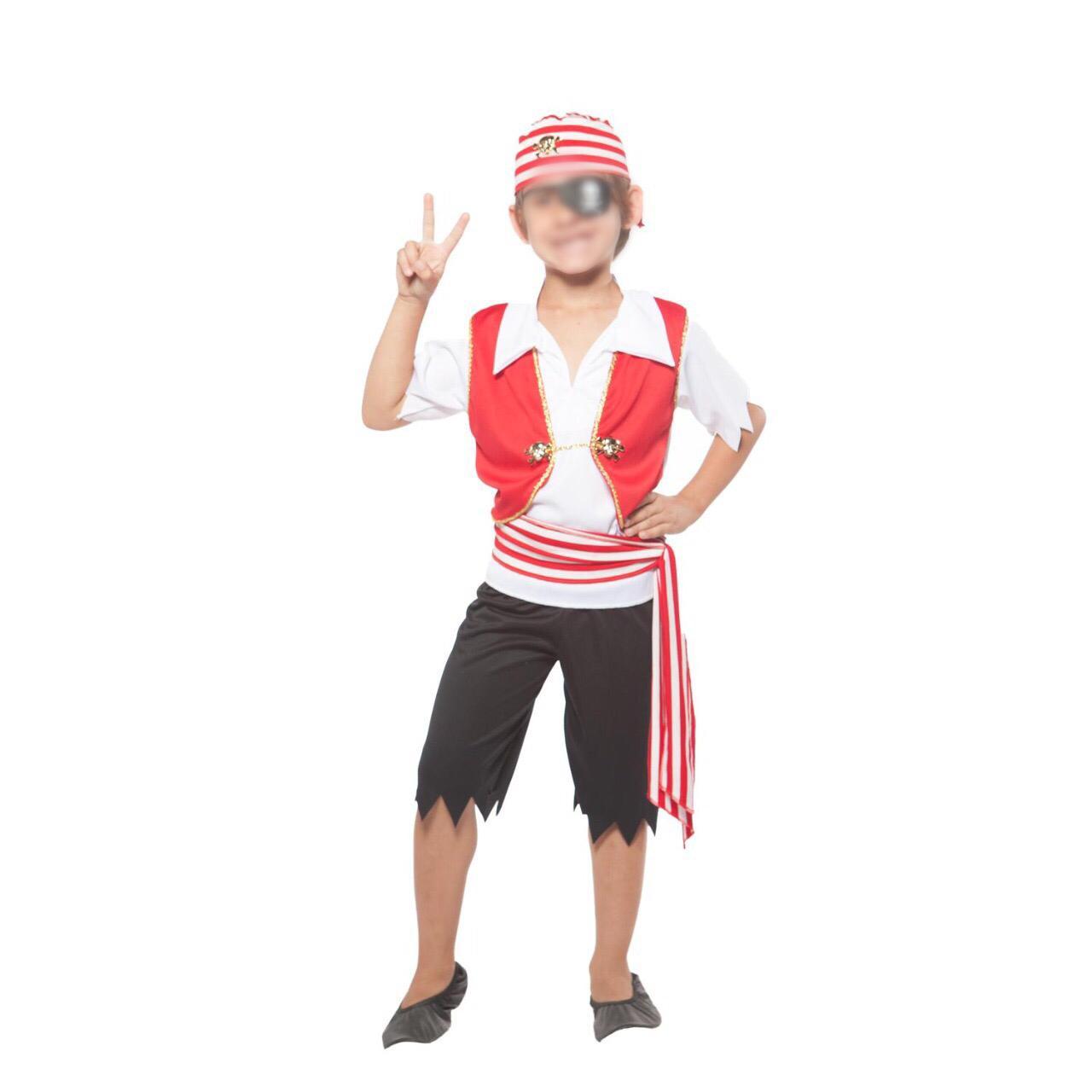 Fantasia Pirata Infantil Colete