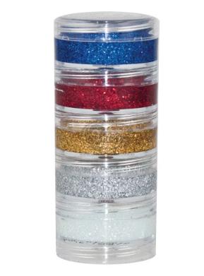 Maquiagem Pinta Cara kit 5 Cores Glitter