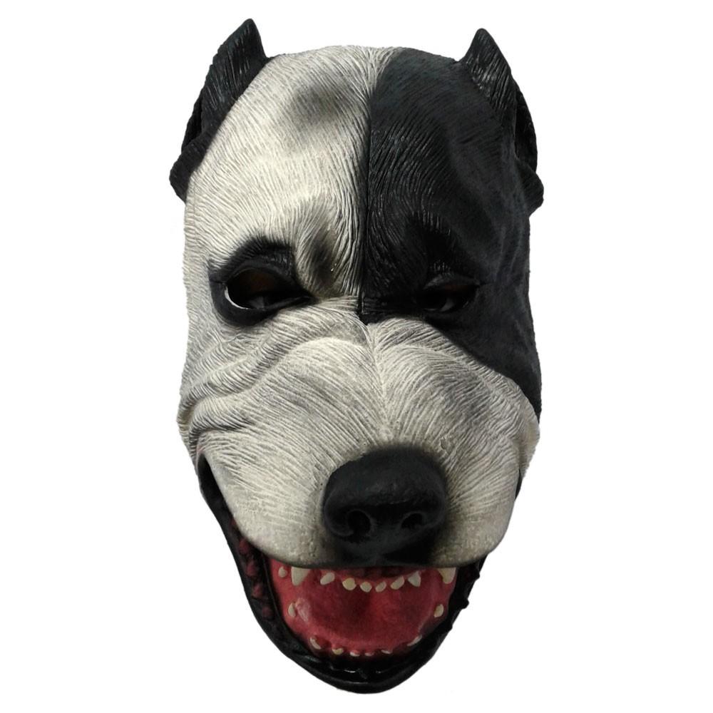 Máscara Cachorro Pitbull - Látex
