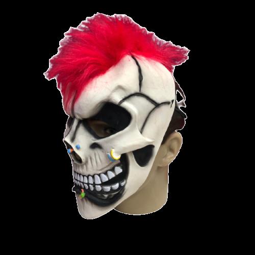Máscara Esqueleto Caveira Punk - Látex