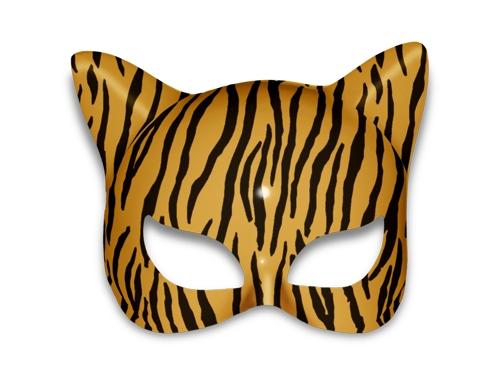 Máscara Tigresa / Oncinha - Plástico Unidade