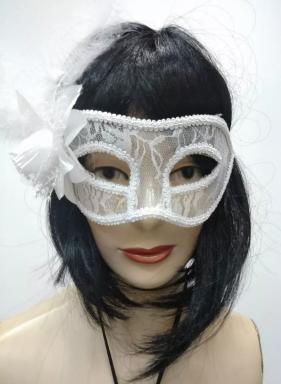 Máscara Veneziana - Branca