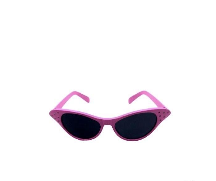 Óculos Gatinha / Anos 60 - Preto - Vermelho - Branco - Rosa