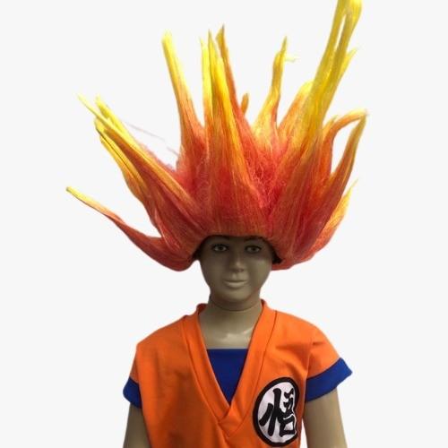 Peruca Goku Dragon Ball Infantil Cabelo Saiyajin Cosplay