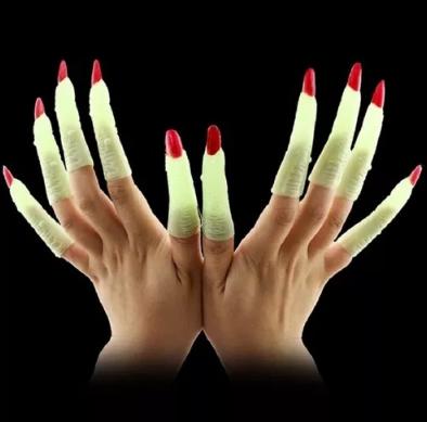 Unhas Bruxa Neon c/10 - Halloween