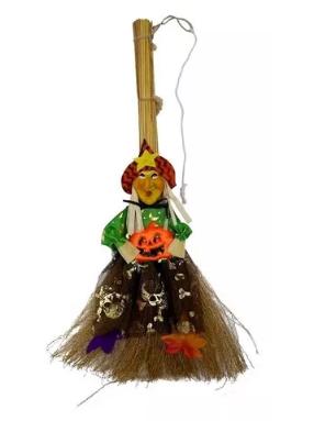 Vassoura Bruxa 50cm - Halloween