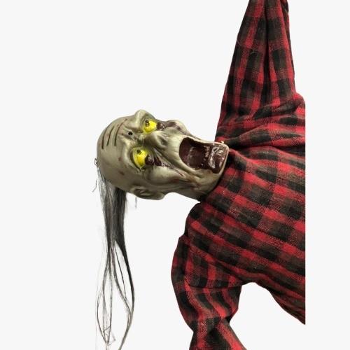 Zumbi Decoração Halloween Boneco com Som de Terror Movimento e Luz