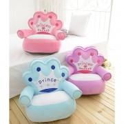 Assento infantil de pelúcia Príncipe e Princesa