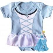 Body infantil divertido para bebê Cinderela