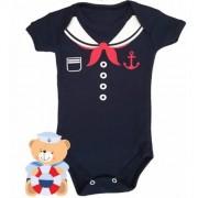 Body infantil divertido para bebê Marinheiro