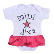 Body infantil divertido para bebê Mini Diva