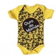 Body infantil divertido para bebê Ouro da Mamãe