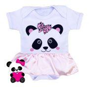 Body infantil divertido para bebê Panda rosa