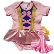 Body infantil divertido para bebê Princesa Aurora
