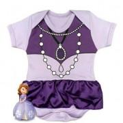 Body infantil divertido para bebê Princesa Sofia
