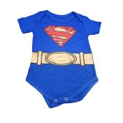 Body infantil divertido para bebê Super Homem