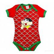 Body infantil divertido para bebê da Magali vermelho - Turma da Mônica