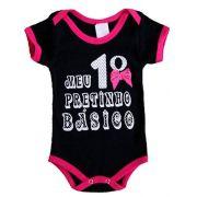 Body infantil temático para bebê meu primeiro pretinho básico