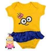 Body infantil divertido para bebê Minions menina