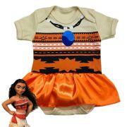 Body infantil temático para bebê Moana