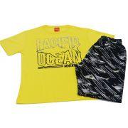 Conjunto infantil masculino amarelo Pacific Ocean Kyly
