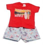 Conjunto infantil masculino Wave Brandili