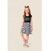 Vestido infantil feminino da Hello Kitty da Marlan