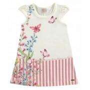 Vestido infantil de verão florido com borboletas Milli & Nina
