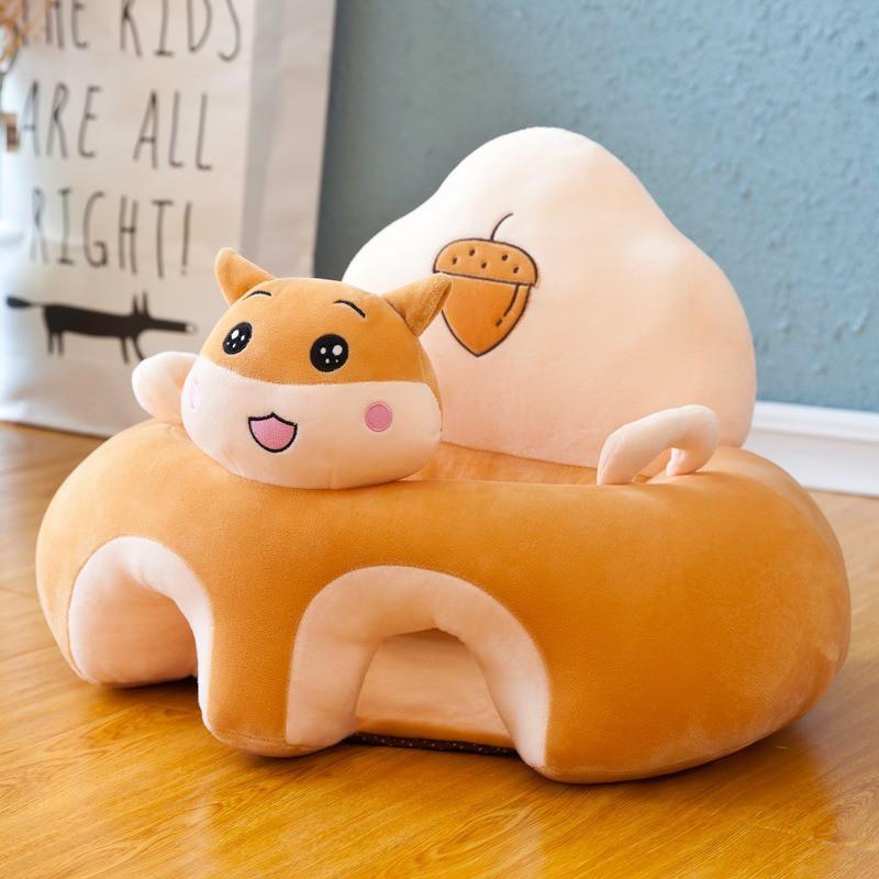 Assento para bebê de pelúcia Elefante e Coelhinha Importado