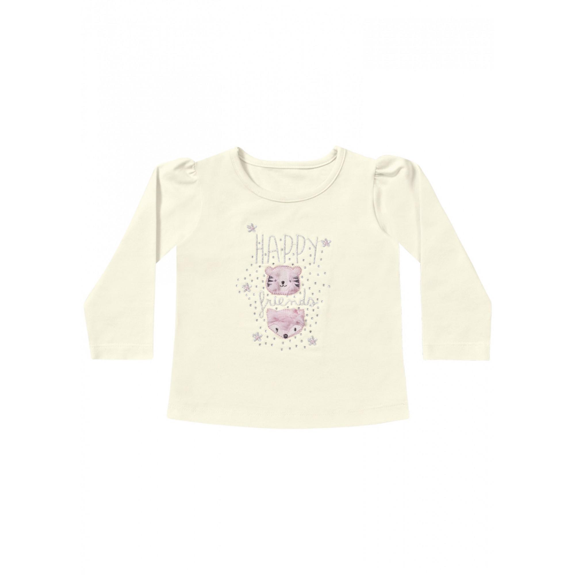 Blusa infantil feminina para bebê Happy Friends Playground