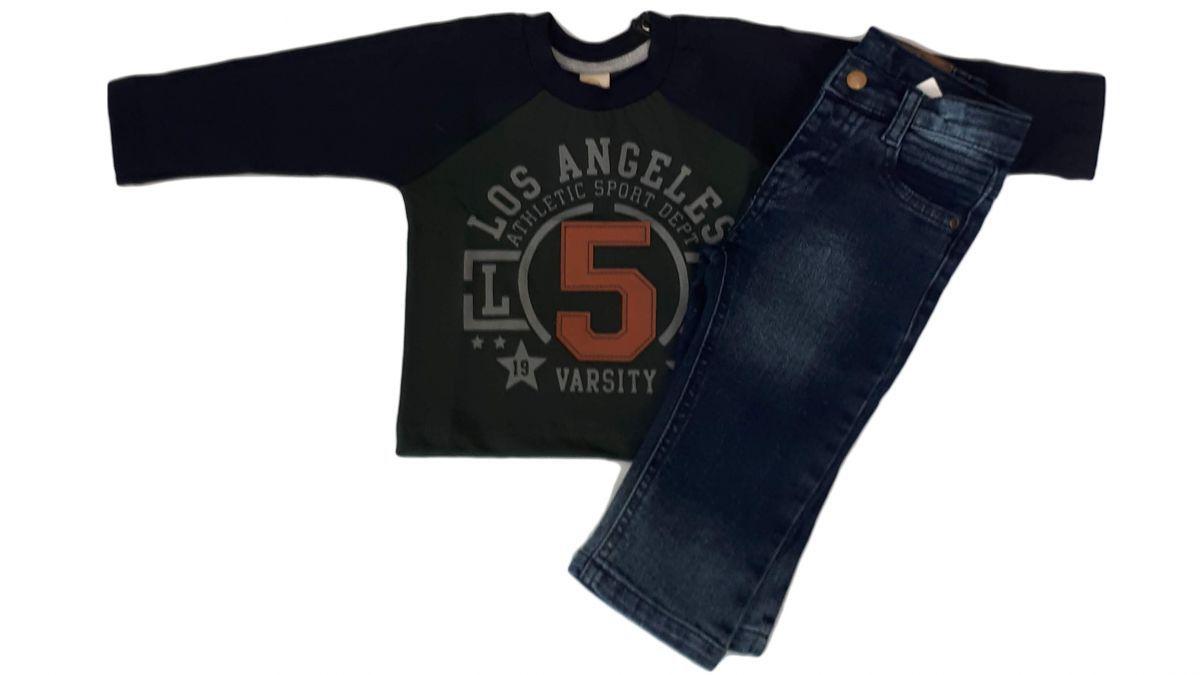 Blusa infantil manga longa para bebê masculino Los Angeles