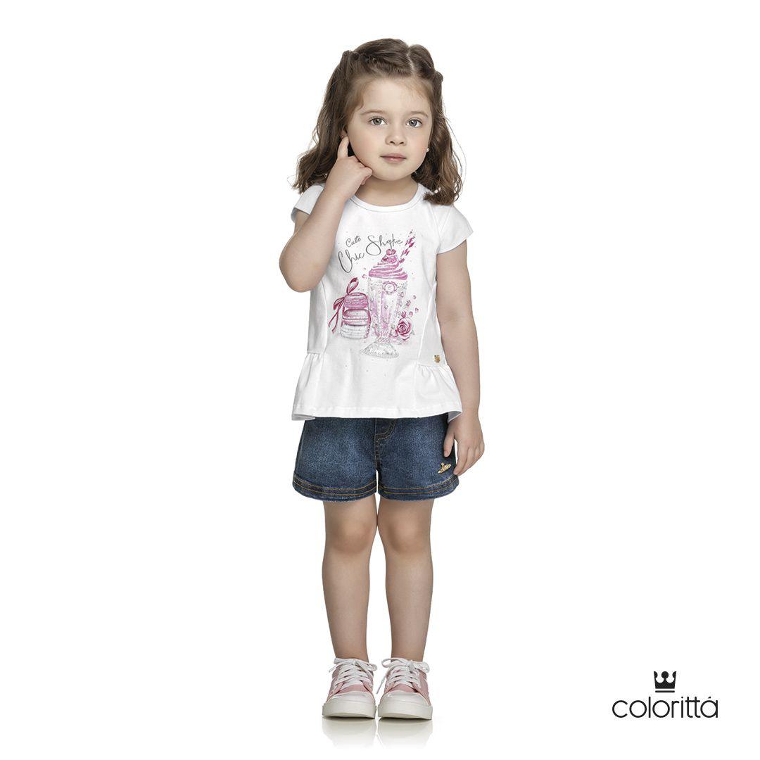 Blusa infantil Milk Shake Colorittá FALTA 1 FOTO DA BLUSA CREME