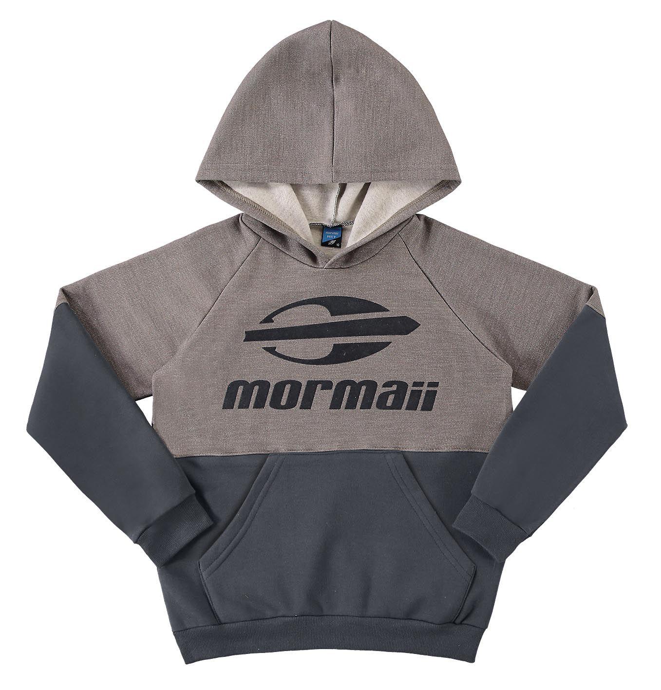 Blusão infantil masculino com capuz em moletom Mormaii