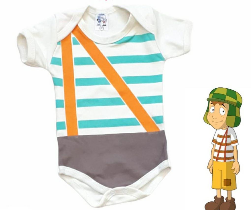 Body infantil divertido para bebê do Chaves