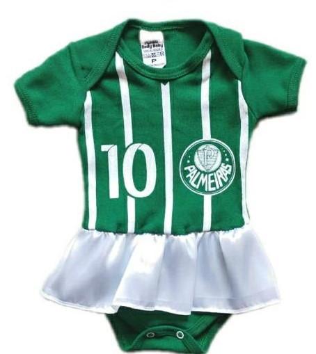 Body infantil divertido para bebê do Palmeiras menina