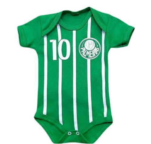 Body infantil divertido para bebê do Palmeiras menino