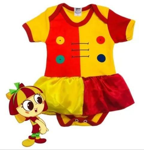 Body infantil divertido para bebê Emília menina
