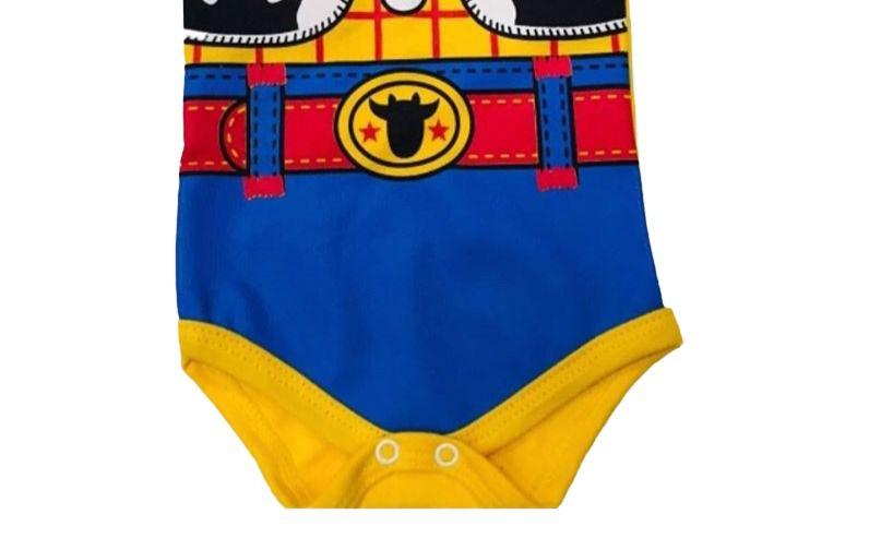 Body infantil divertido para bebê do Boneco Cowboy Wood - Toy Story