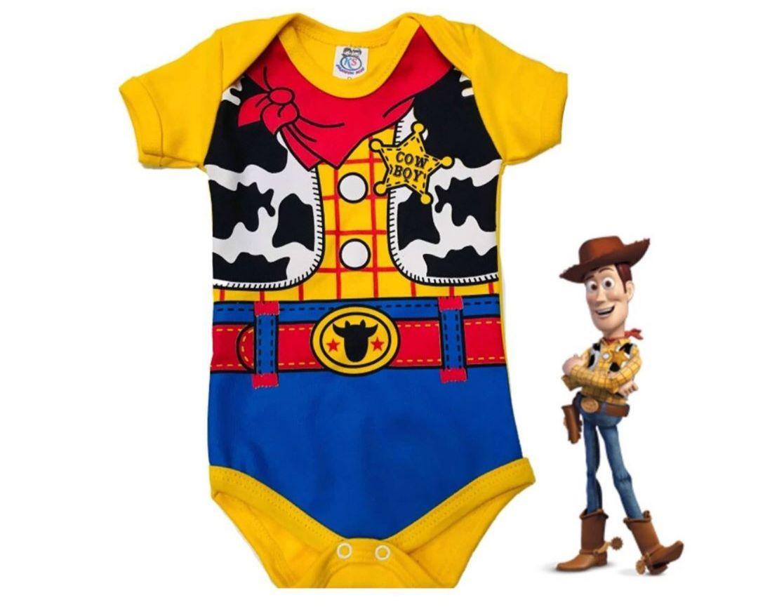 Body infantil para bebê do Boneco Cowboy Wood - Toy Story