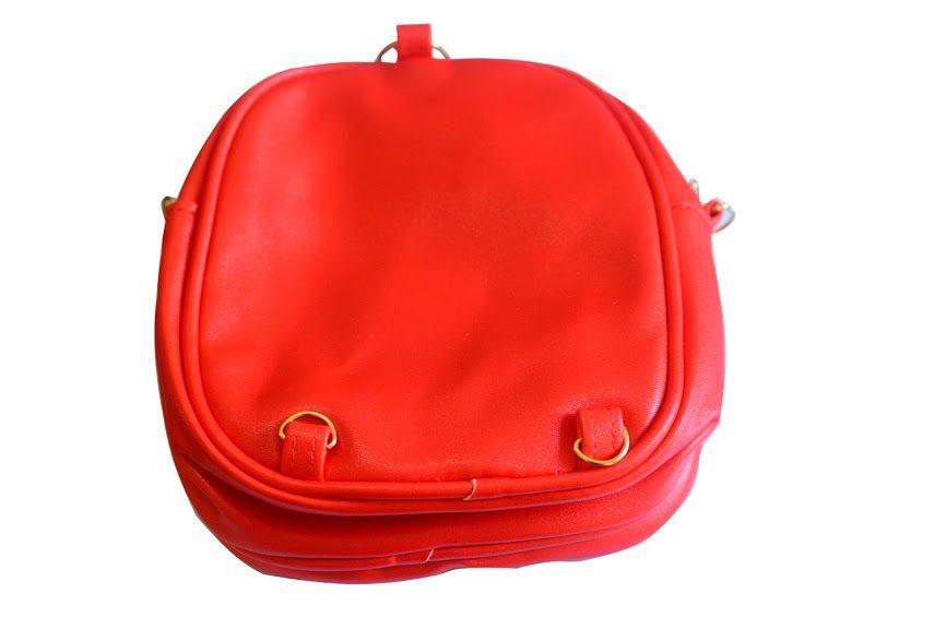 Bolsa Mochila infantil feminina Coelhinha Vermelha