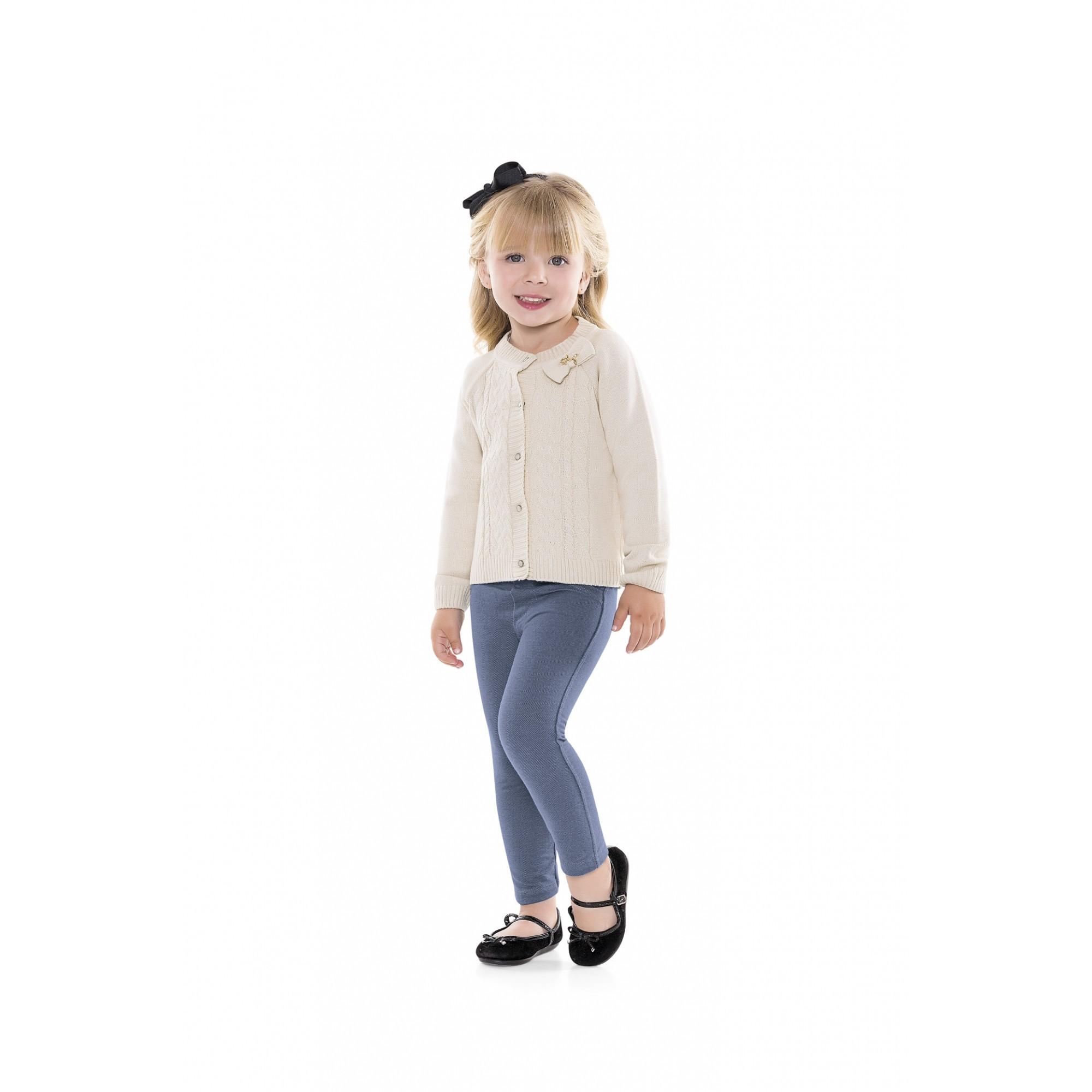 Calça infantil feminina legging jeans em malha Playground