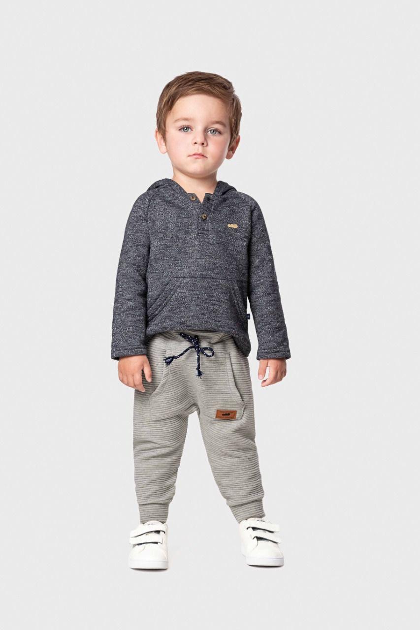 Calça infantil masculina em malha gorgurinho Marlan