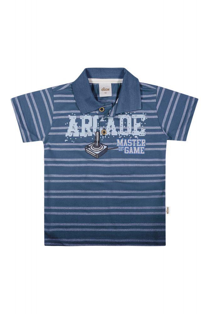 Camisa infantil masculina pólo listrada arcade  Elian