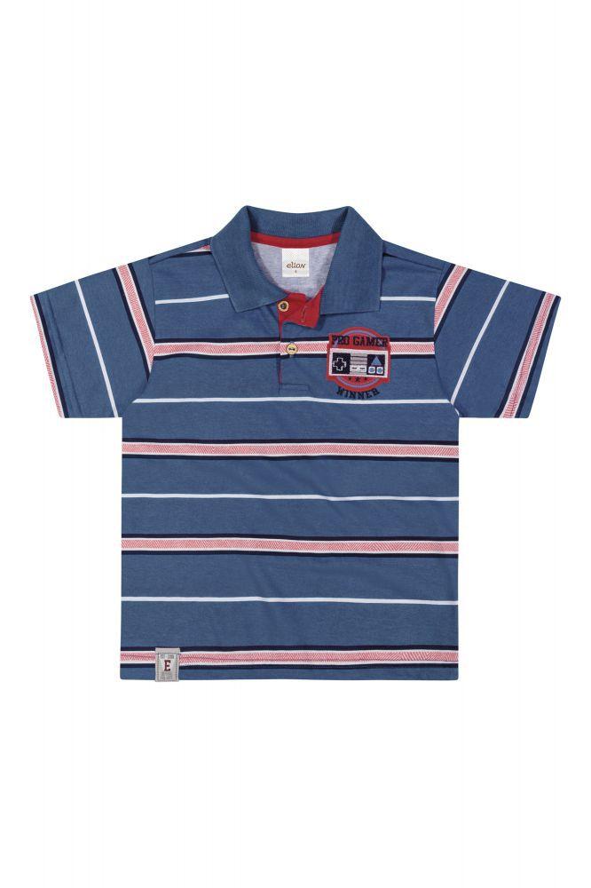 Camisa infantil masculina pólo listrada Elian